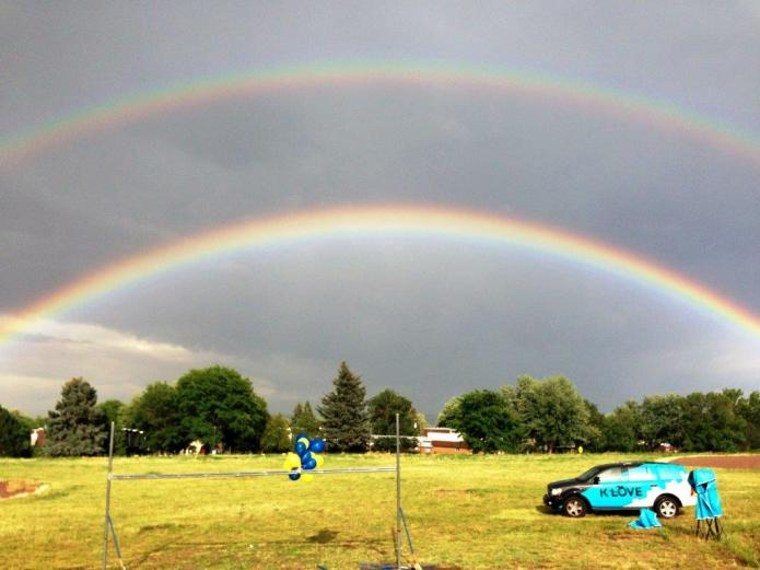 Double Rainbow on Ground breaking day!