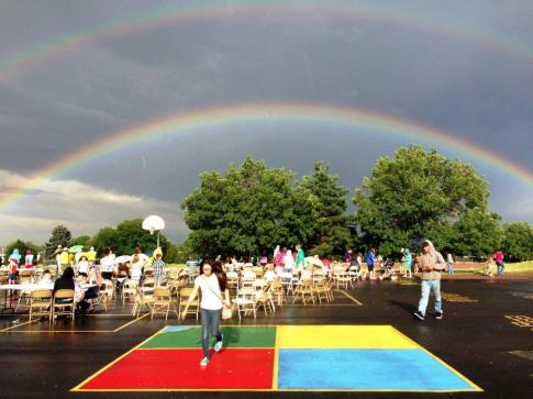 Ground breaking rainbow